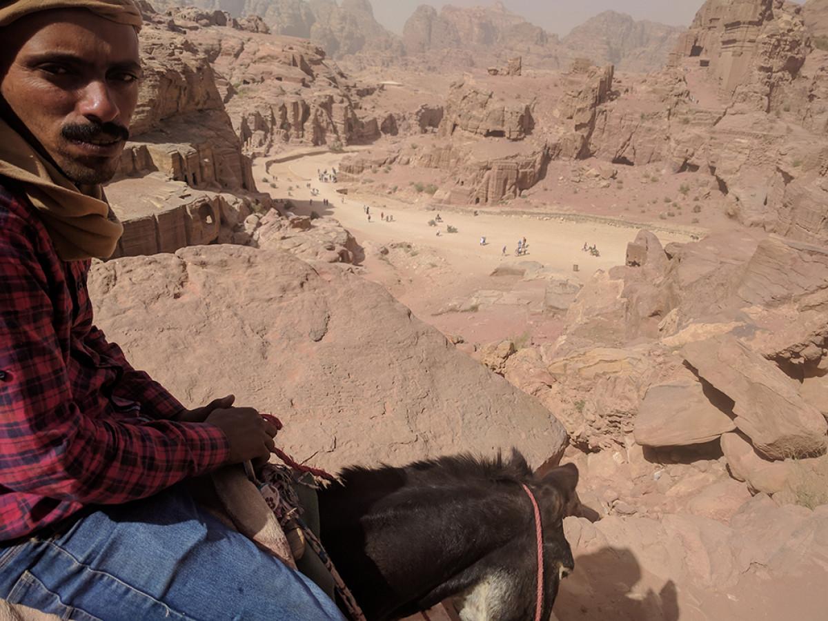 Beduino en Petra (Jordania)